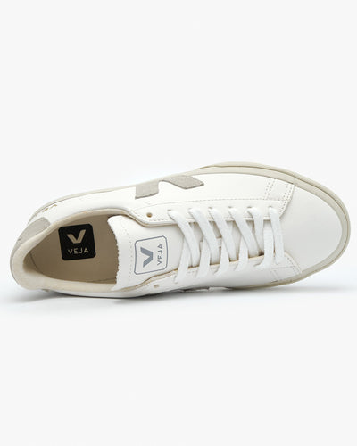 Veja Campo Chromefree Leather Sneakers - Extra White / Natural Suede Veja Trainers