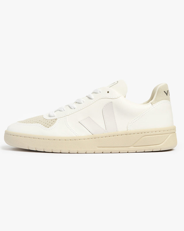 Veja V-10 CWL Vegan Sneakers - Full White / Natural UK 7 VXM0725307 Veja Trainers