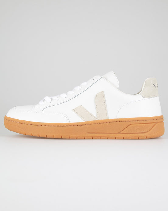 Veja V-12 Leather Sneakers - Extra White / Natural UK 7 XDM0218217 3611820430433 Veja Trainers
