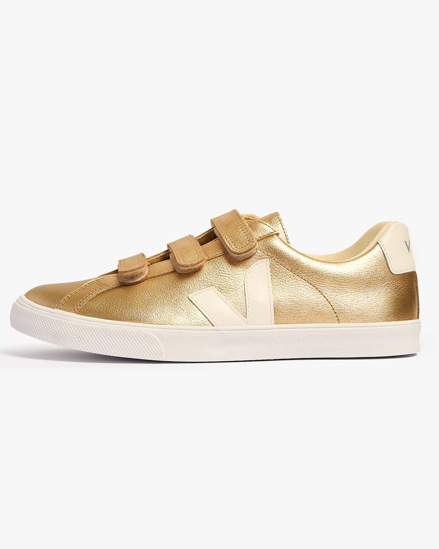 Veja Womens 3-Lock Leather Sneakers - Platine / White UK 4 ELW0224124 Veja Trainers