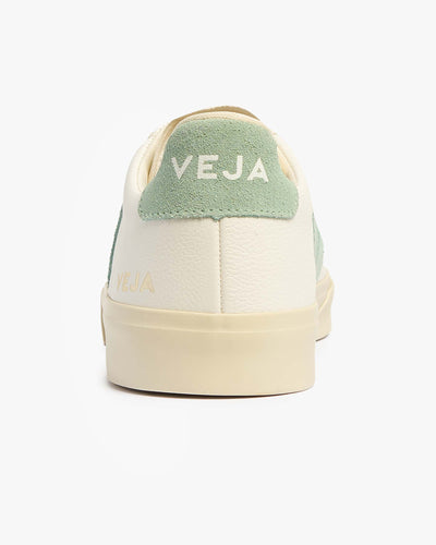 Veja Womens Campo Chromefree Leather Sneakers - Extra White / Matcha Veja Trainers