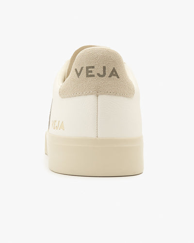 Veja Womens Campo Chromefree Leather Sneakers - Extra White / Natural Suede Veja Trainers