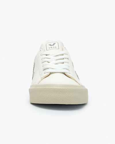 Veja Womens Campo Chromefree Leather Sneakers - Extra White / Natural Veja Trainers