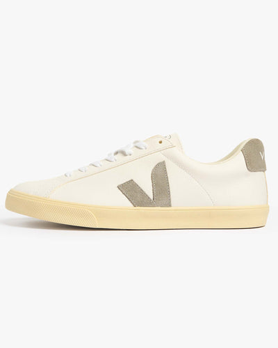 Veja Womens Esplar Chromefree Leather Sneakers - Extra White / Oxford Grey UK 4 EOW0523054 Veja Trainers