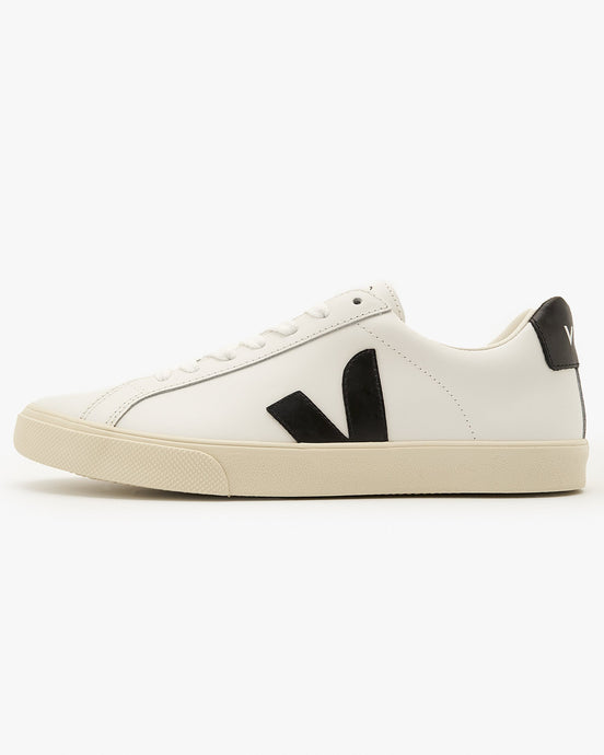 Veja Womens Esplar Leather Sneakers - Extra White / Black UK 4 EOW0200054 Veja Trainers