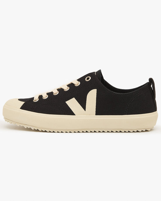 Veja Womens Nova Canvas Vegan Sneakers - Black / Pierre UK 3 NA011397A3 3611820017979 Veja Trainers