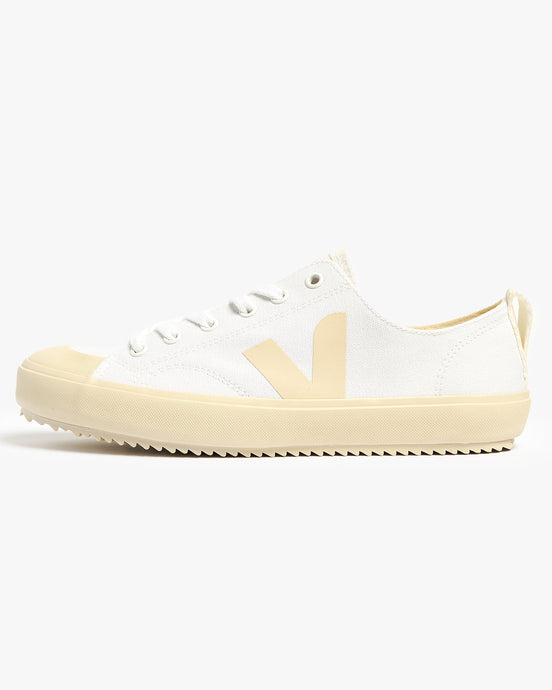 Veja Womens Nova Canvas Vegan Sneakers - White / Pierre UK 4 NAW0114014 Veja Trainers