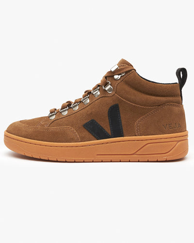 Veja Womens Roraima Suede Sneakers - Brown / Black / Gum