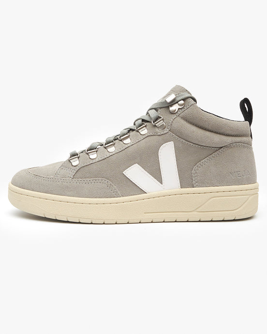 Veja Womens Roraima Suede Sneakers - Oxford Grey / White UK 3 QR032366A3 3611820023727 Veja Trainers