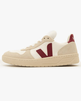 Veja Womens V-10 B-Mesh Sneakers - White / Natural / Marsala UK 4 VXW0113144 Veja Trainers