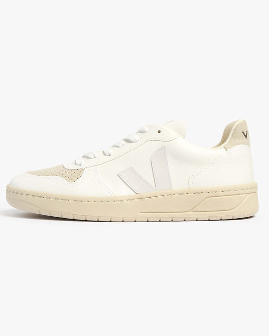 Veja Womens V-10 CWL Vegan Sneakers - Full White / Natural UK 4 VXW0725304 Veja Trainers