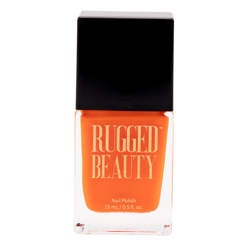 Construction Barrel Medium Orange Nail Polish