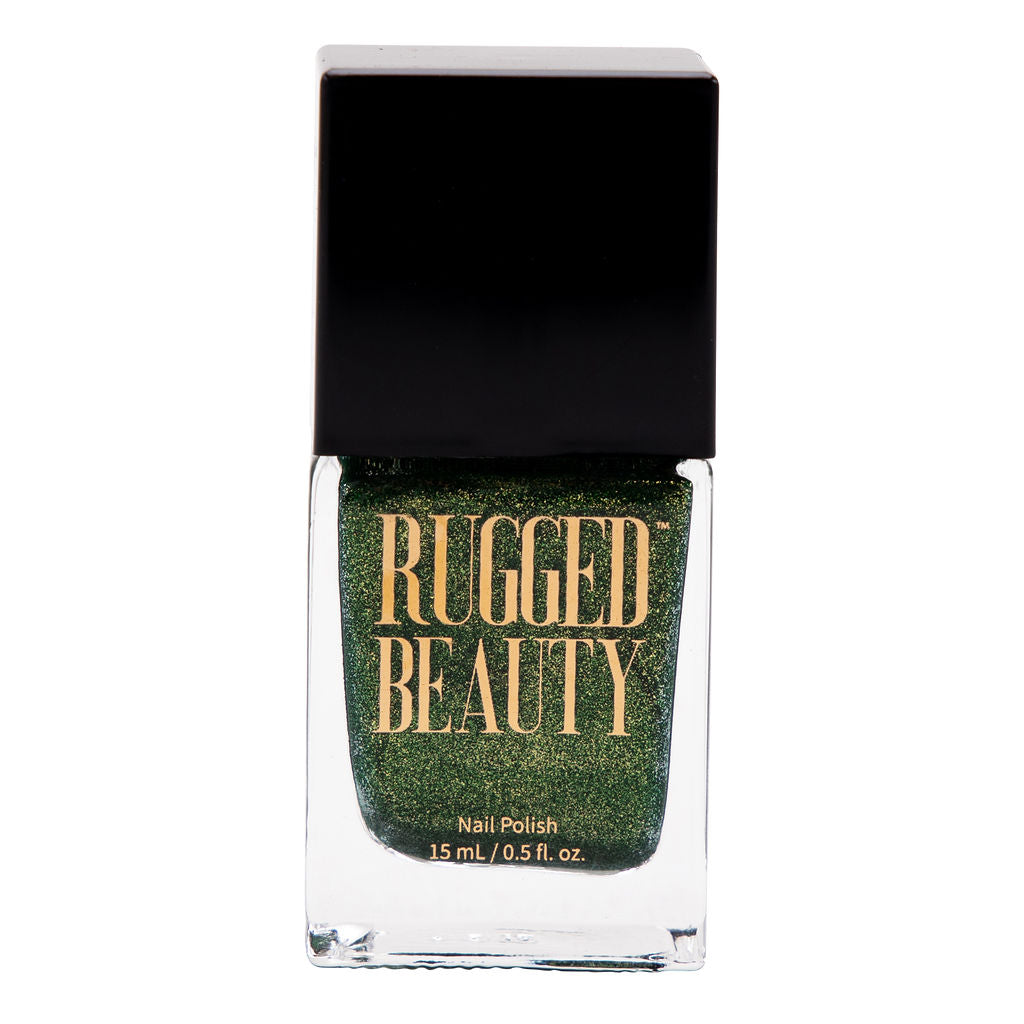 Evergreen Shimmery Green Nail Polish