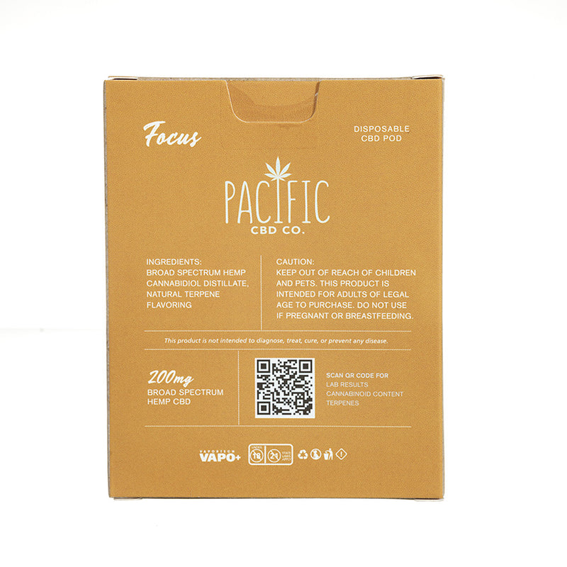Pacific CBD Co Disposable Pod Focus 200mg