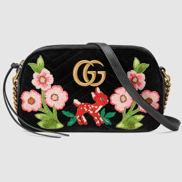1e2bdea846d GG Marmont Velvet Small Shoulder Bag – Dress Control