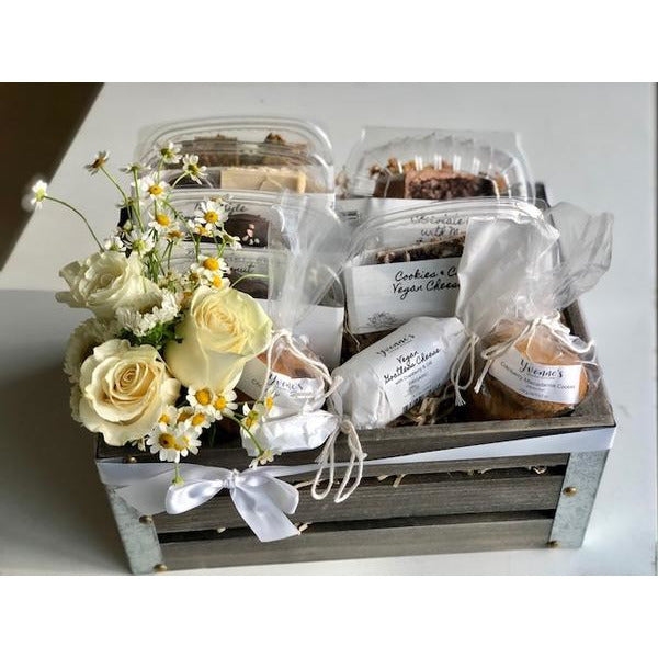 Gift Basket - Flowers & Vegan Treats *Local delivery & pick-up only*