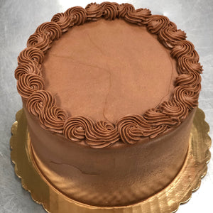 Triple Chocolate Cake with Smooth Frosting (6-inch, 2-layers)