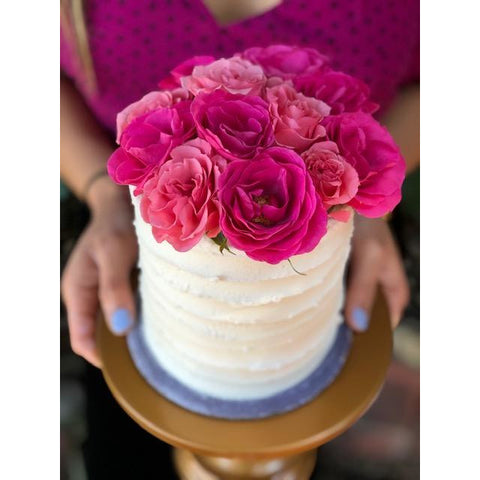 Flower Cake - Vanilla Lemon Cake with Raspberry Jam *LA delivery & pick-up only*
