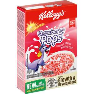 Kelloggs Strawberry Pops 350G