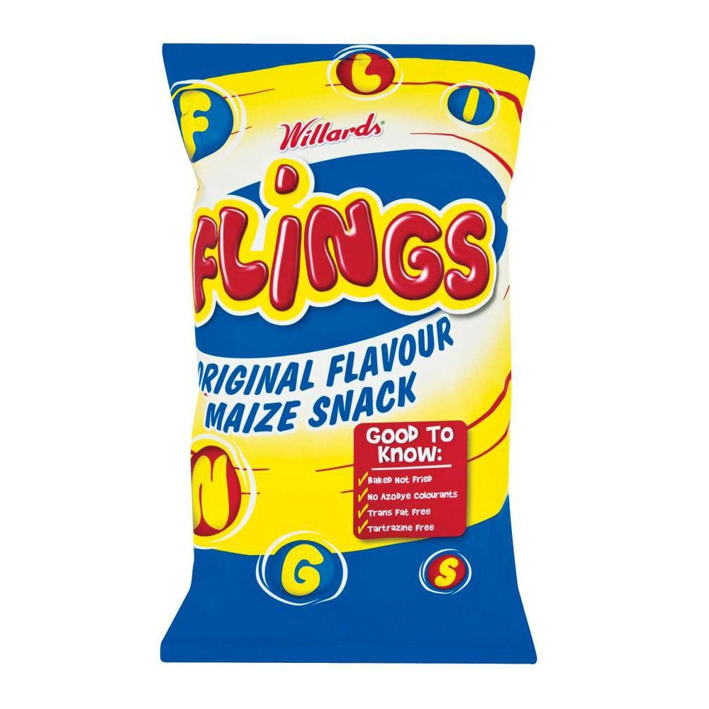Willards Flings Maize Snacks 150G
