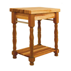 Catskill Craftsmen – Butcher Block Island with Turned Legs and Pot Racks SKU 1471