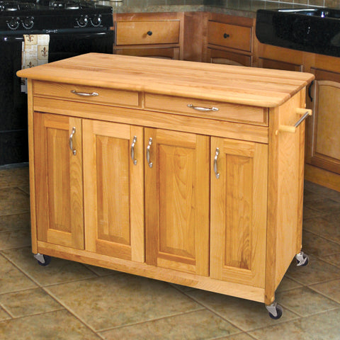 Catskill Craftsmen – Butcher Block Island with Raised Panel Doors SKU 54220