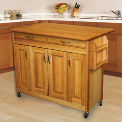 Catskill Craftsmen – Butcher Block Island with Raised Panel Doors and Drop Leaf SKU 54228