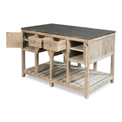 Sarreid - Haymarket Kitchen Island - Grey SKU 40534