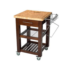 Chris & Chris - Pro Chef Series Square Chop & Drop Kitchen Cart