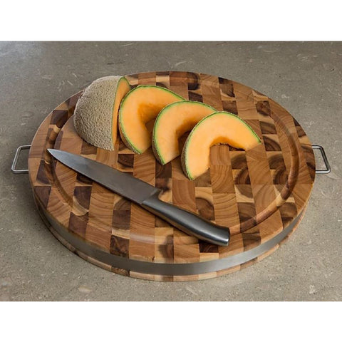 https://thekitchenislandstore.com/products/chris-chris-end-grain-reversible-round-cutting-board-with-metal-band SKU: JET7988