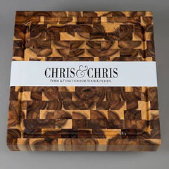 Chris & Chris - End Grain Acacia Square Cutting Board SKU JET7997