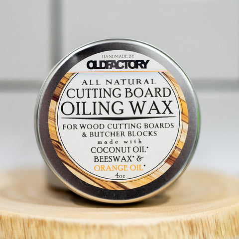 Old Factory – Cutting Board Wax Tin – Orange Oil - The Kitchen Island Store