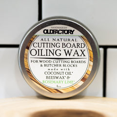Old Factory – Cutting Board Wax Tin – Rosemary & Lime - The Kitchen Island Store