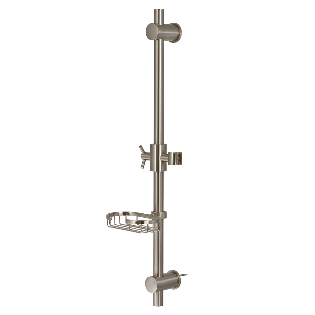 PULSE ShowerSpas Brushed-Nickel Adjustable Slide Bar Shower Panel Accessory