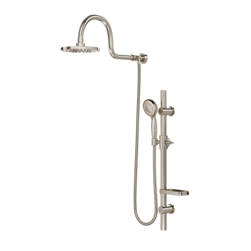 PULSE ShowerSpas AquaRain Brushed-Nickel Shower System