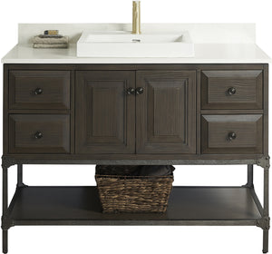 Fairmont Designs 1401-48 Toledo 48 inch Traditional Bathroom Vanity in a Grey Finish