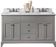 Load image into Gallery viewer, Fairmont Designs 1504-V6021D Smithfield 60 inch Double Bowl Vanity in Medium Gray