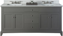 "Load image into Gallery viewer, Fairmont Designs 1504-V7221D Smithfield 72"" Double Bowl Vanity in Medium Gray"