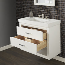 "Load image into Gallery viewer, Fairmont Designs 1517-WV3618 Studio One 36x18"" Wall Mount Vanity in Glossy White"