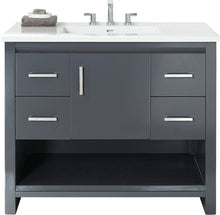 "Load image into Gallery viewer, Fairmont Designs 1518-V42 Studio One 42"" Vanity in Glossy Pewter"