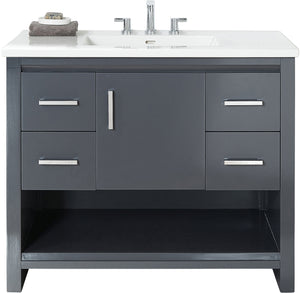"Fairmont Designs 1518-V42 Studio One 42"" Vanity in Glossy Pewter"