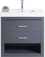 "Load image into Gallery viewer, Fairmont Designs 1518-WV3018 Studio One 30x18"" Wall Mount Vanity in Glossy Pewter"