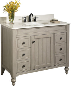 "Fairmont Designs 1524-V42 Crosswinds 42"" Traditional Vanity in Slate Gray"