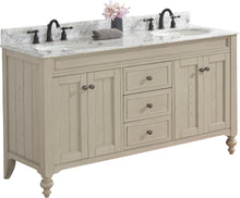 "Load image into Gallery viewer, Fairmont Designs 1524-V6021D Crosswinds 60"" Double bowl Traditional Vanity in Slate Gray"