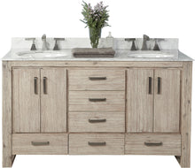 "Load image into Gallery viewer, Fairmont Designs 1530-V6021D Oasis 60"" Free Standing Double Bathroom Vanity with Six Drawers in Sand Pebble"
