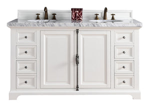 "Providence 60"" Double Vanity Cabinet Cottage White"