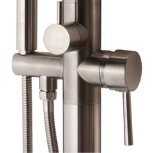 Load image into Gallery viewer, Pulse ShowerSpas Freestanding Tub Filler with Diverter in Brushed-Nickel