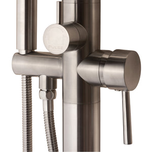 Pulse ShowerSpas Freestanding Tub Filler with Diverter in Brushed-Nickel