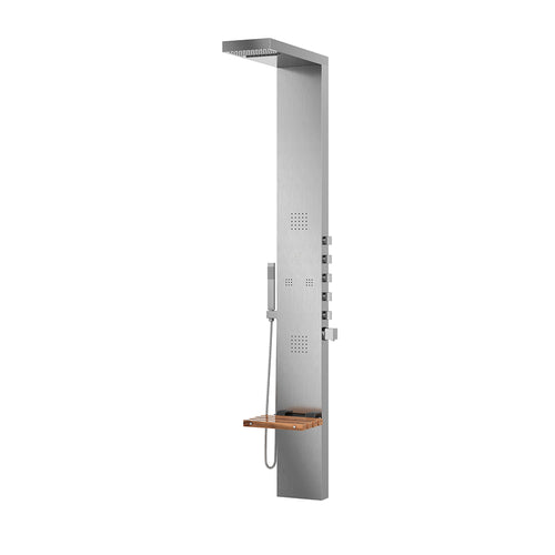PULSE ShowerSpas Oahu Matte Brushed Stainless Steel ShowerSpa