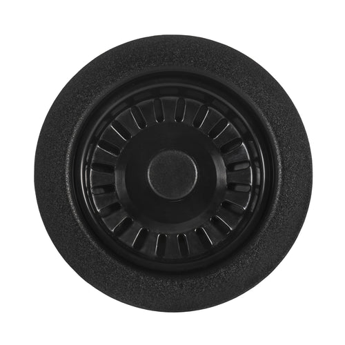 Ruvati Kitchen Sink Basket Strainer Drain Assembly - Matte Black - RVA1038BL
